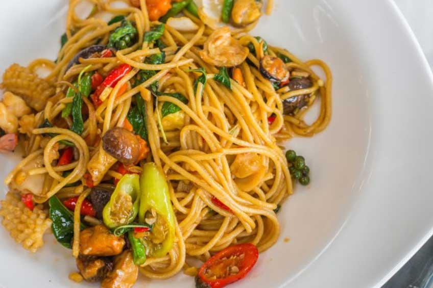 seafood italien spaghetti