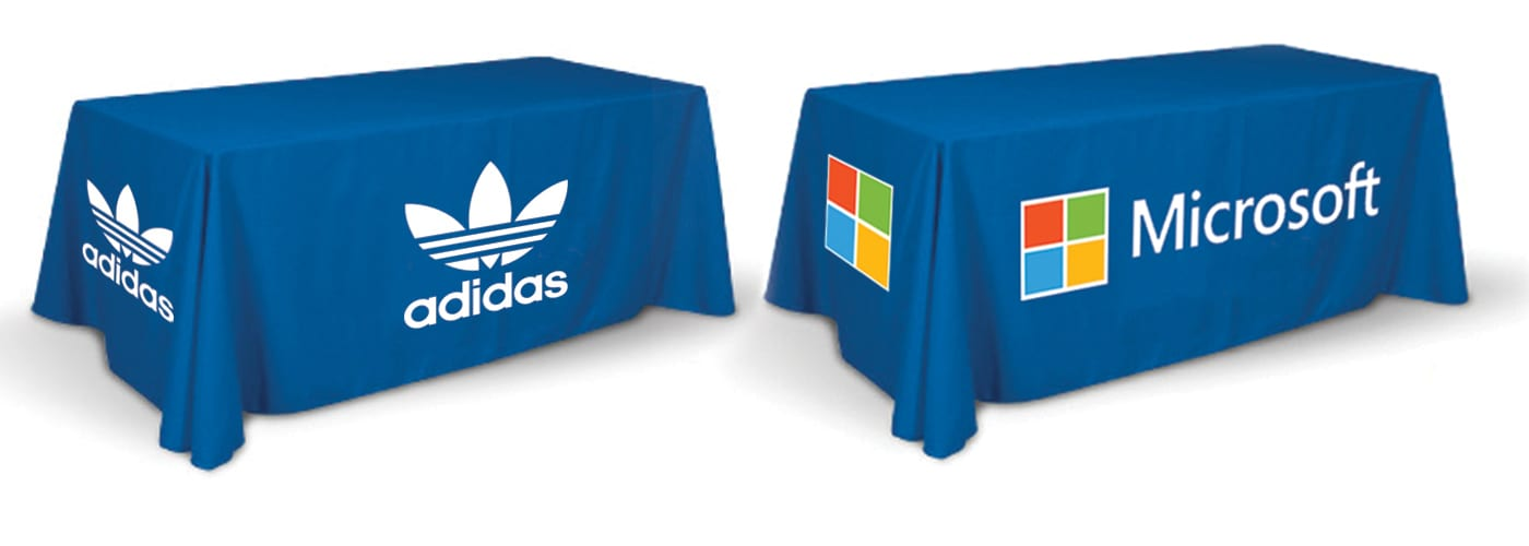 Table Covers  sc 1 st  Los Angeles Print and Design & Full Color Table Cover Printing - 3 Sides Table Throw Printing