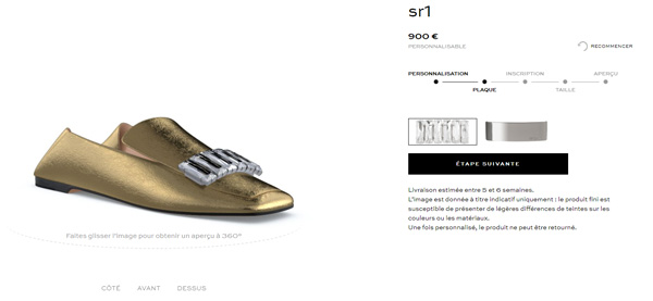 Sergio Rossi SR1 personnalisation