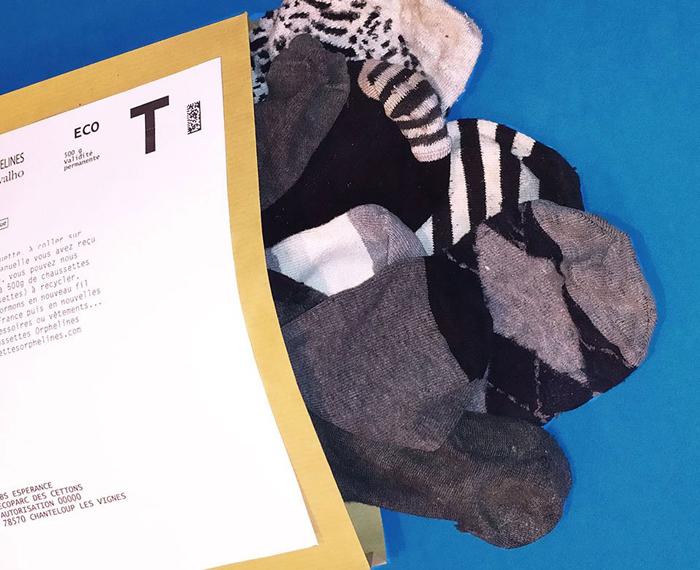 chaussettes orphelines - enveloppe retour