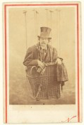 [Felix Nadar in Gondola of a Balloon]; Nadar [Gaspard FŽlix Tournachon], French, 1820 - 1910; about 1863; Albumen silver; Image: 7.9 x 5.6 cm (3 1/8 x 2 3/16 in.), Mount: 9.8 x 6.5 cm (3 7/8 x 2 9/16 in.); 84.XM.436.394