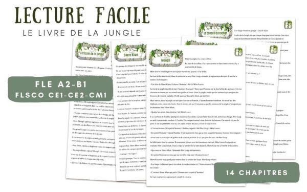 Lecture français Facile  Enfants A2 B1 Livre Jungle