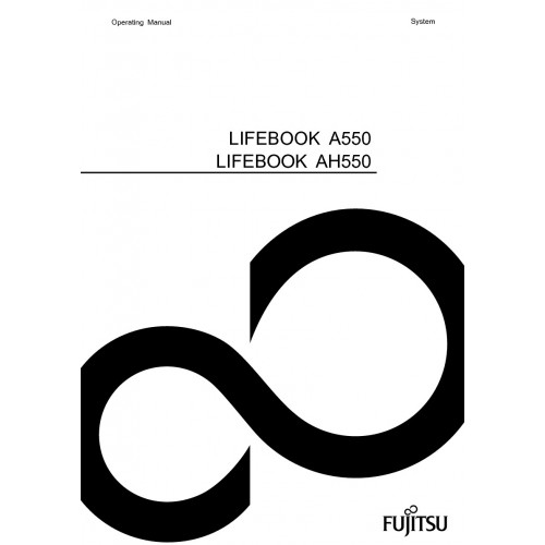 Fujitsu LIFEBOOK AH550 Laptop User Guide Manual Technical