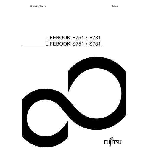 Fujitsu LIFEBOOK E751 Laptop User Guide Manual Technical
