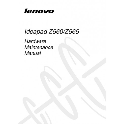 Lenovo IdeaPad Z560 Laptop User Guide Manual Technical