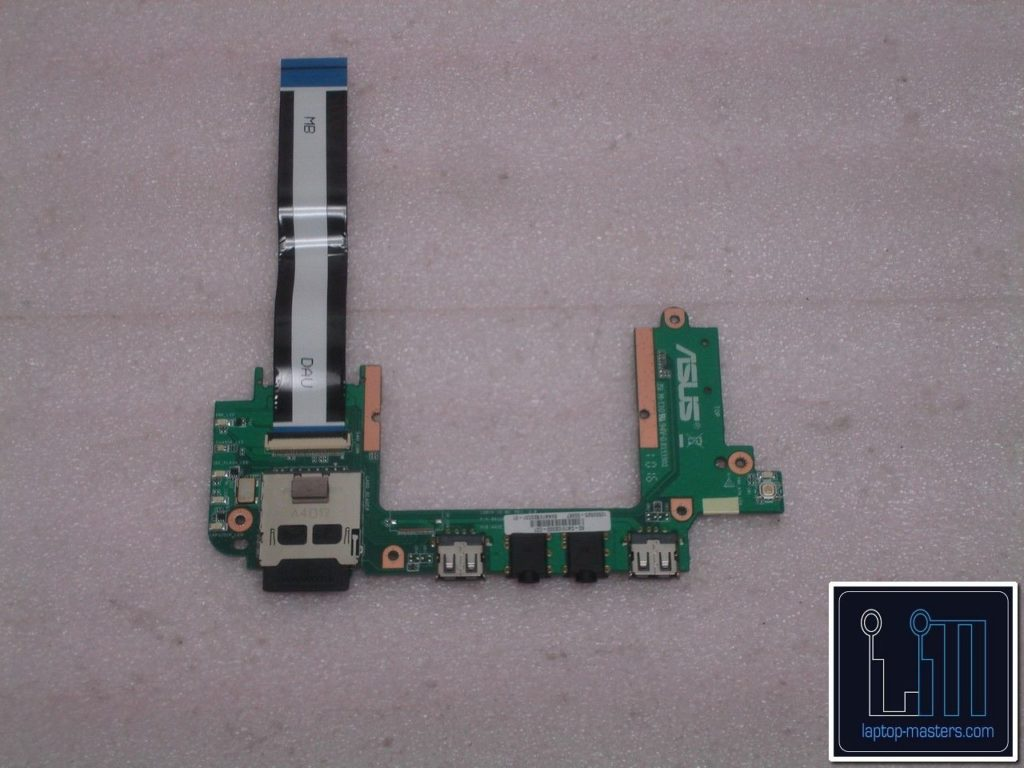 ASUS Eee PC 1201N Power Button USB Audio SD Port Board with Cable  69NA1VB20C01