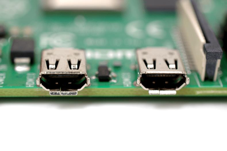 raspberrypi4 micro HDMI ports