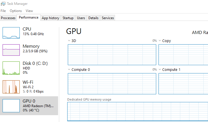 Windows 10 throttled CPU