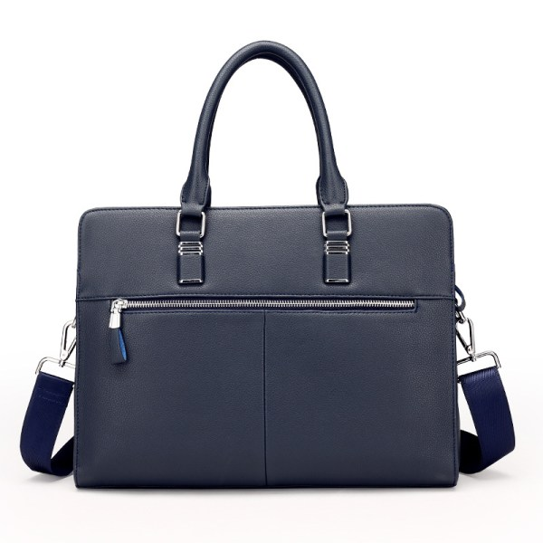 back view of Venice leather laptop bag