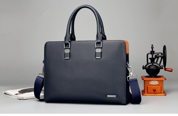 Men and women leather laptop suitcase 14 15.6 inches