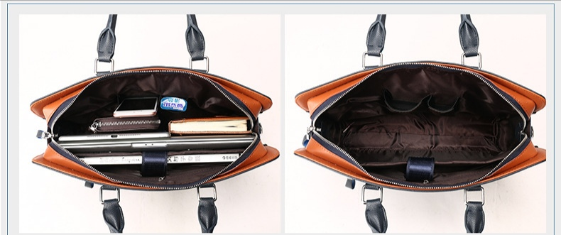 inner compartments for Venice leather laptop bag