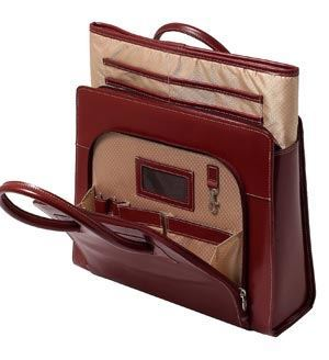 Internal Design of McKlein Women Leather Laptop Tote Bag