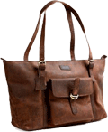 Cuero 16 inch Brown Leather Tote Bag for Women Review