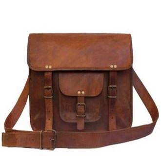 Leather Bags Now 15 inches Genuine Leather Satchel Messenger Bag Review