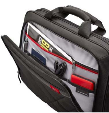 Case Logic DLC-115 15.6-Inch Laptop and Tablet Briefcase U shaped organizer pocket