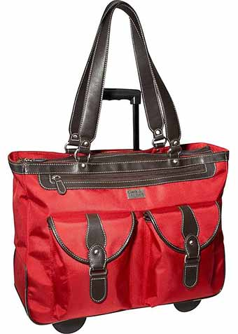 Clark & Mayfield Marquam 18.4 inch Rolling Laptop Tote