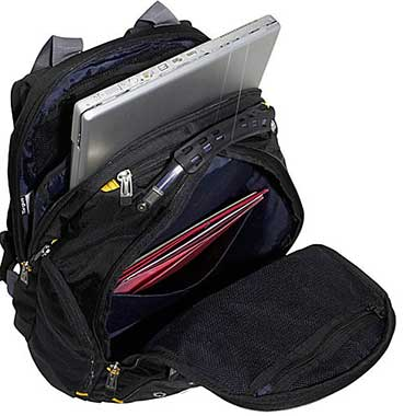Targus Drifter II Laptop Backpack Review Compartments
