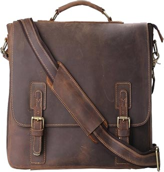 Kattee Leather Laptop Shoulder Bag For Men Review