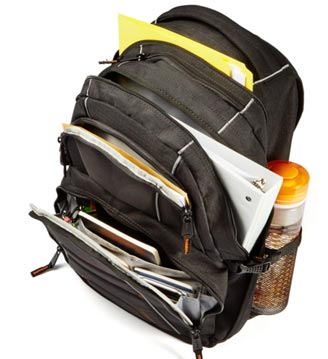 Internal Design of AmazonBasics Laptop Backpack