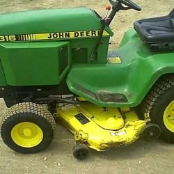 John Deere 316 Garden Tractor Attachments | Gardening