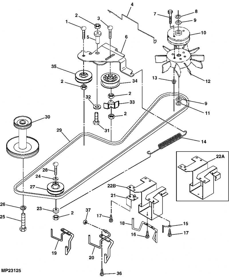 John Deere M655 Schematics