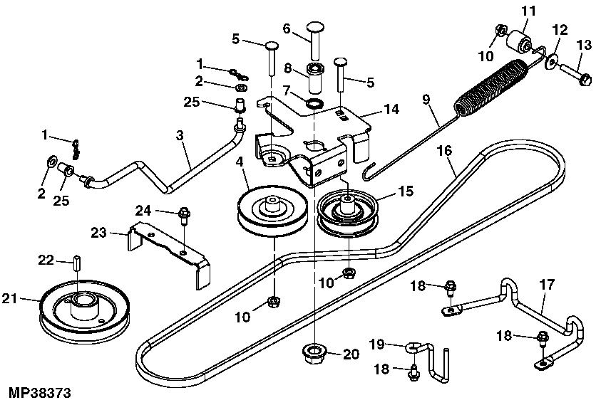 John Deere Lx280 Belt Diagram : 29 Wiring Diagram Images