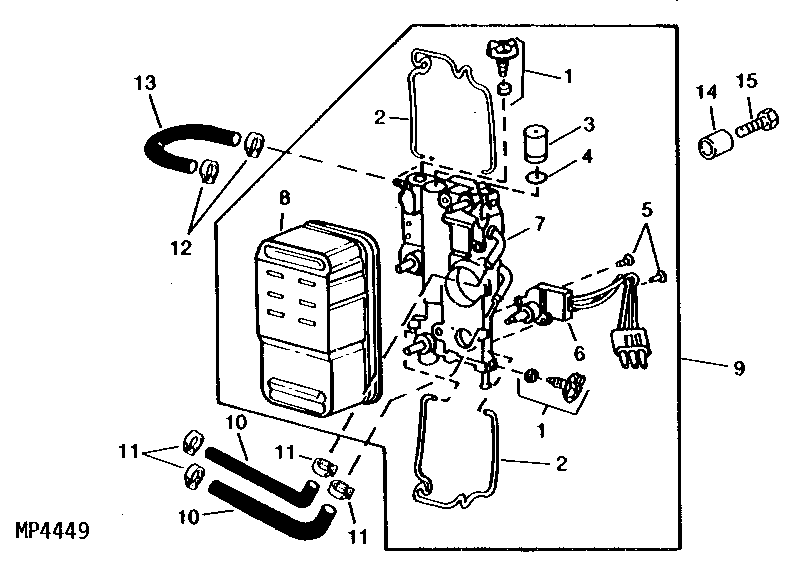 John Deere 425 Lawn Mower Engine Diagram