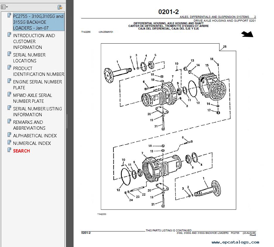 hight resolution of john deere 310g 310sg 315sg backhoe loaders parts catalog