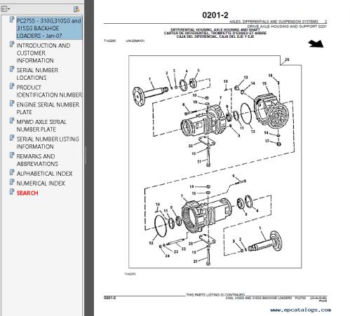 small resolution of john deere 310g 310sg 315sg backhoe loaders parts catalog