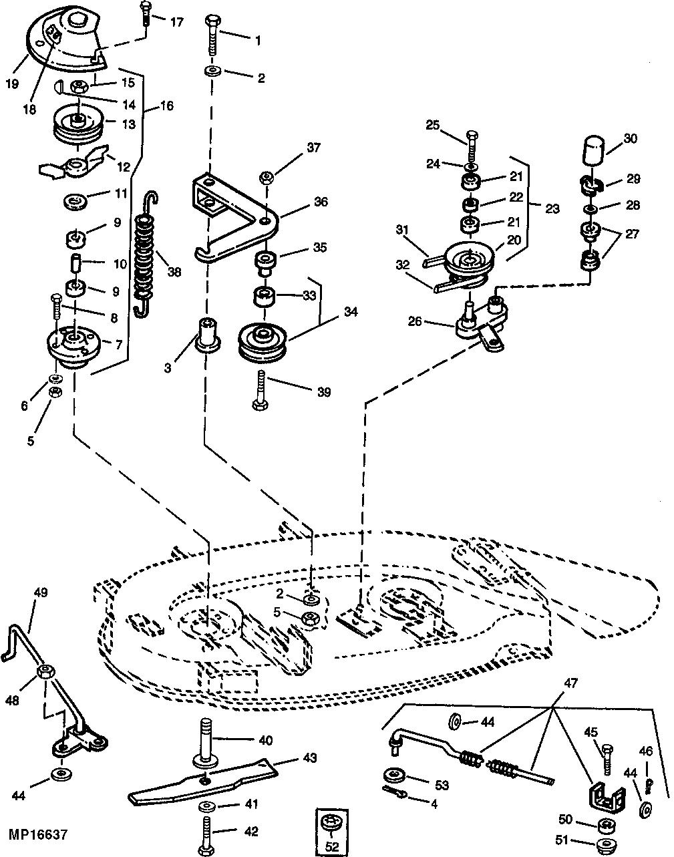 John Deere L110 Mower Parts Diagram