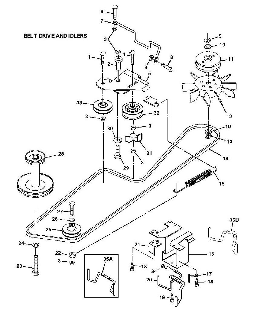 john deere gx75 mower belt diagram