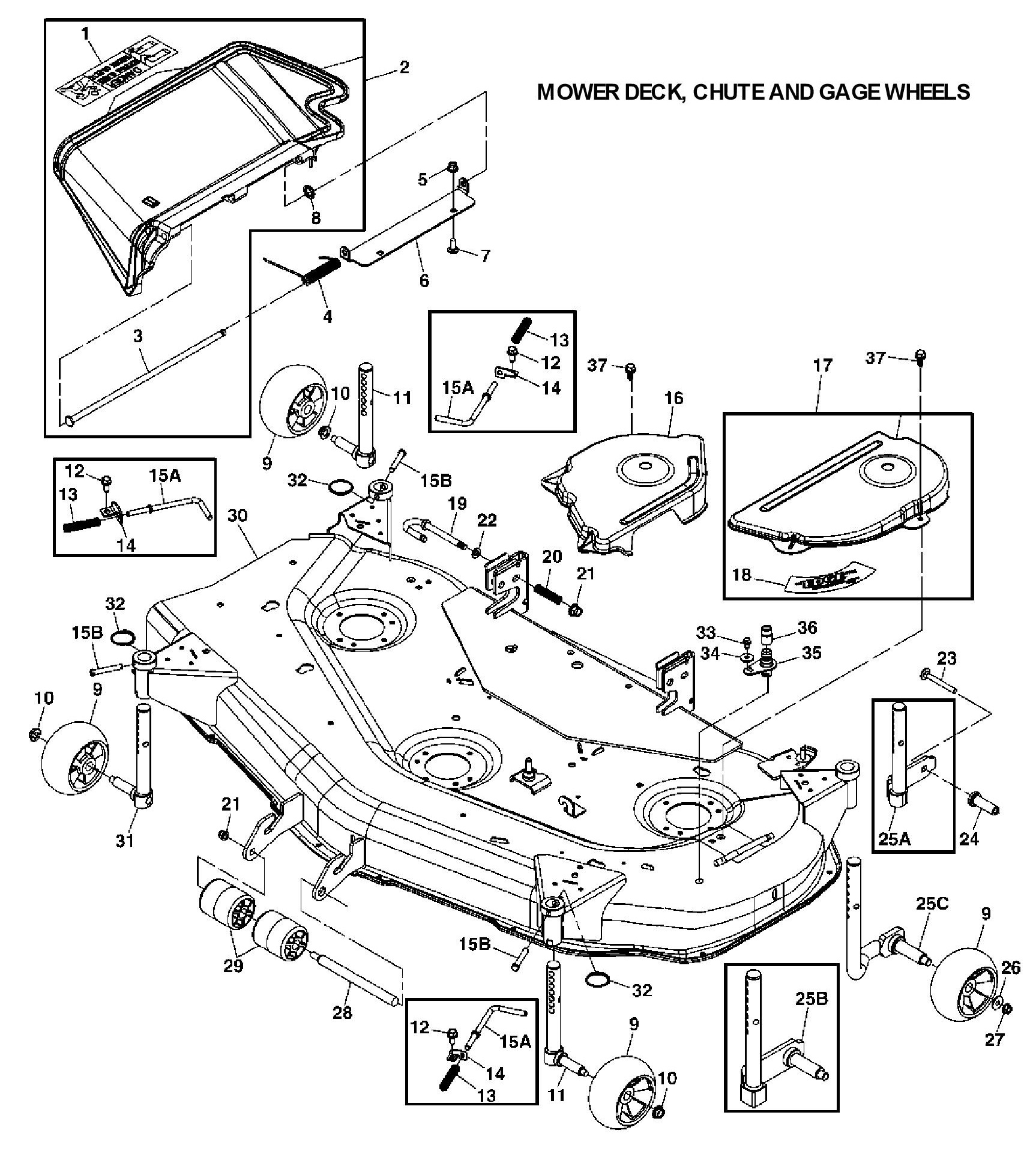 John Deere X320 Deck Parts Diagram