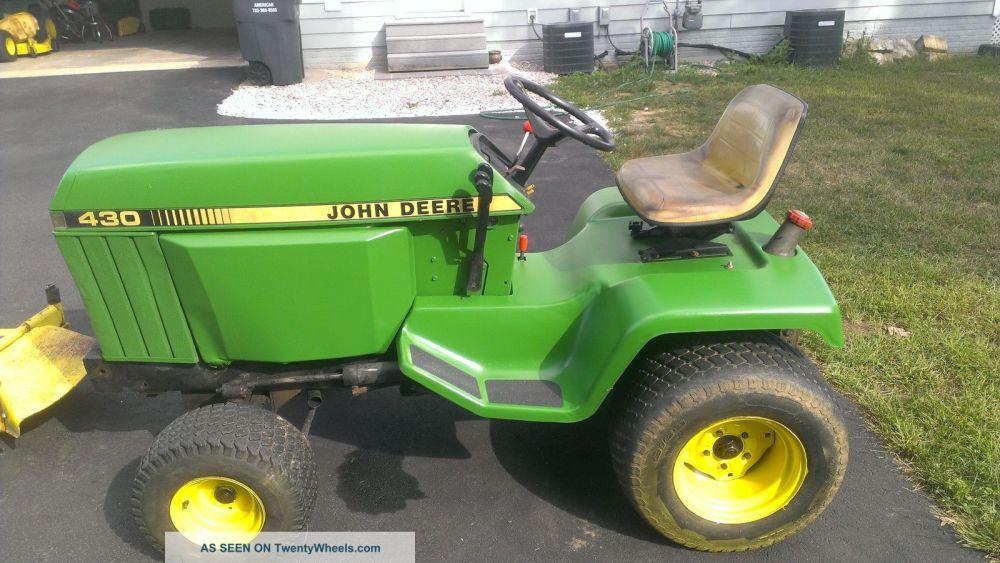 medium resolution of john deere 425 garden tractor w 47 snowblower and 54