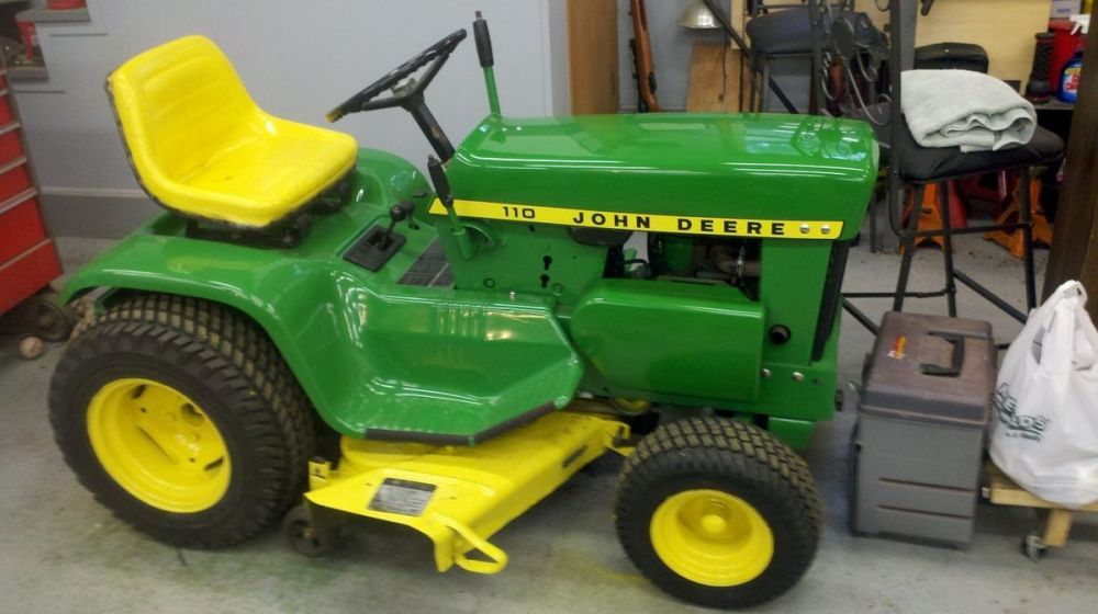 medium resolution of 1968 john deere 110 lawn tractor with attachments on popscreen