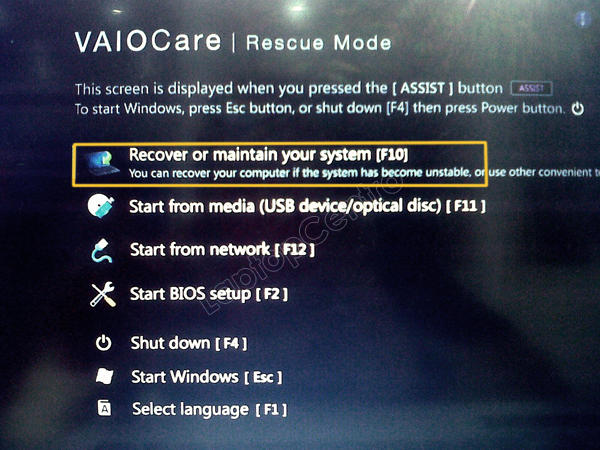 Recovery Sony VAIO Windows 8 (3/6)