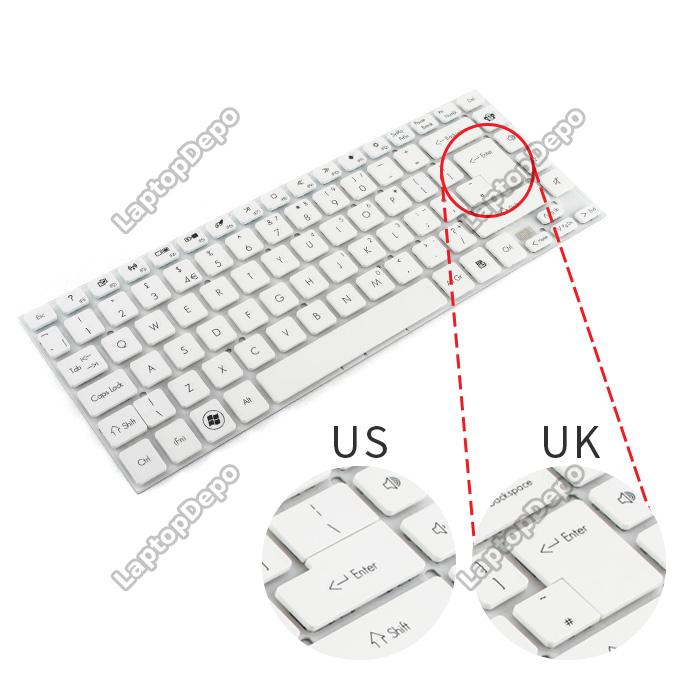 Tastatura Laptop Acer Aspire 3830 Alba layout UK