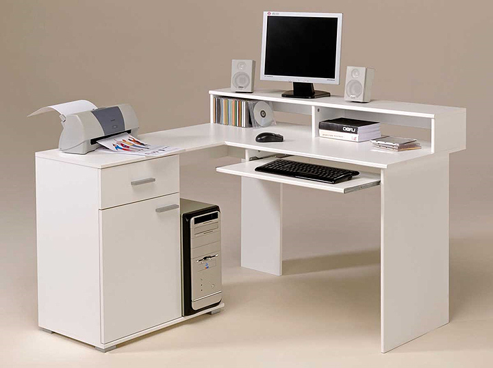 white computer desk for home office  Review and photo