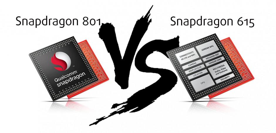 Qualcomm Snapdragon 801 Adreno 330 Vs Snapdragon 615