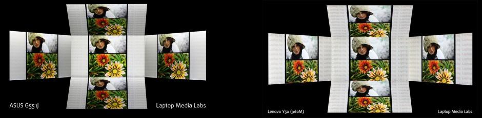 ASUS G551J - Lenovo Y50 angles