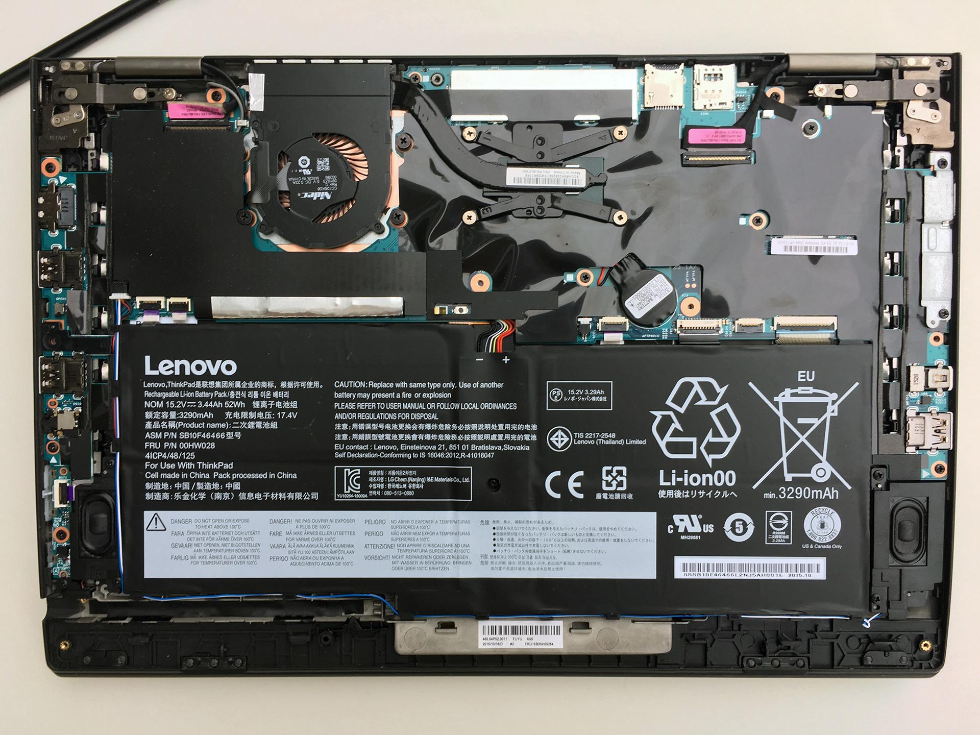 Inside Lenovo ThinkPad X1 Yoga – disassembly, internal photos and