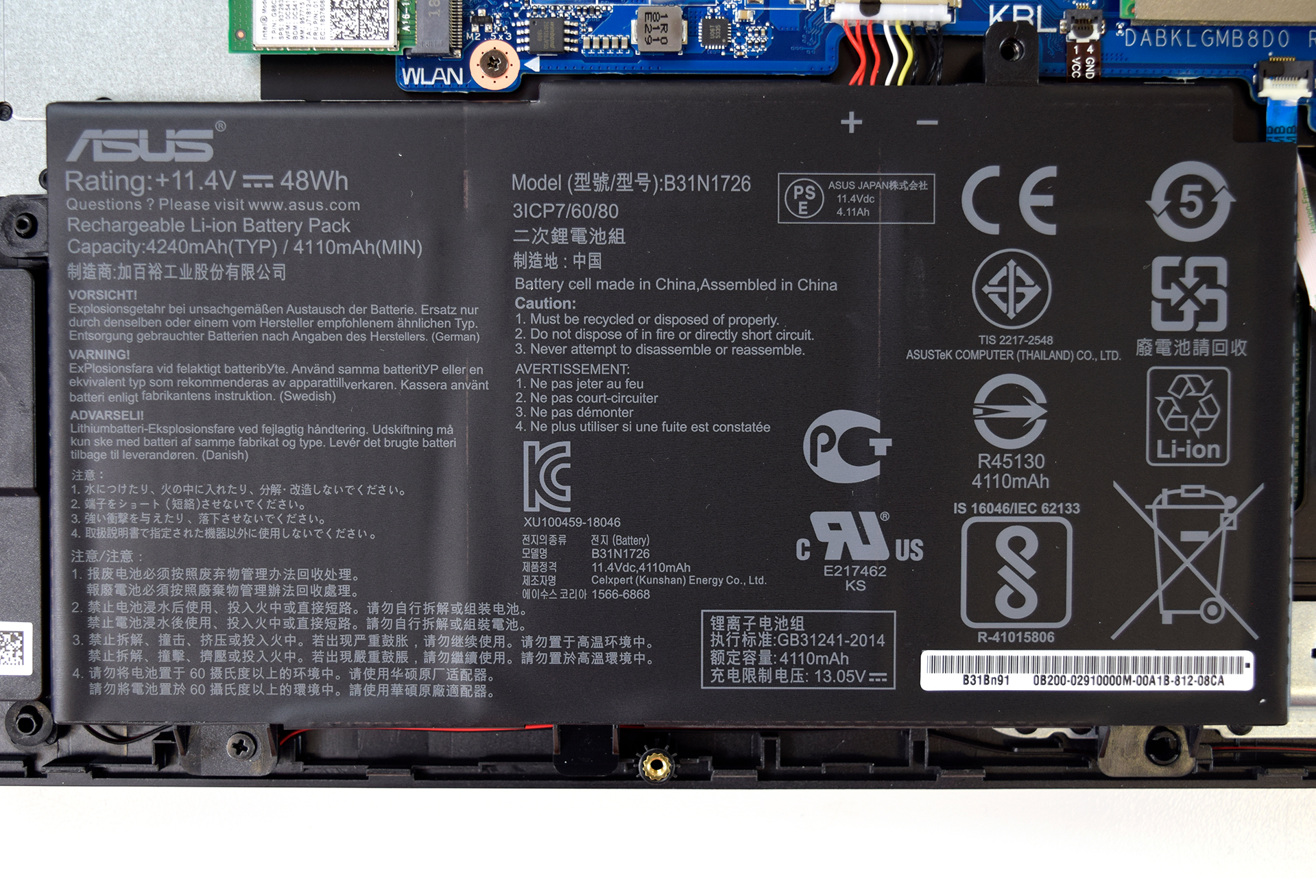 Inside ASUS TUF Gaming FX504 – disassembly, internal photos