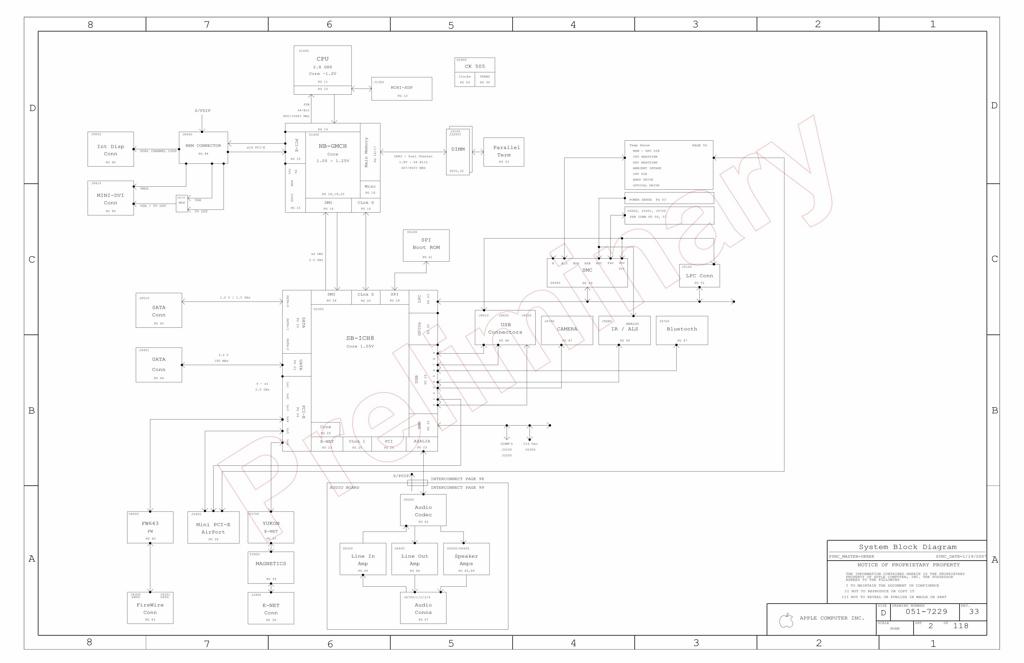 Apple iMac 24″ A1225 schematic – 820-2110