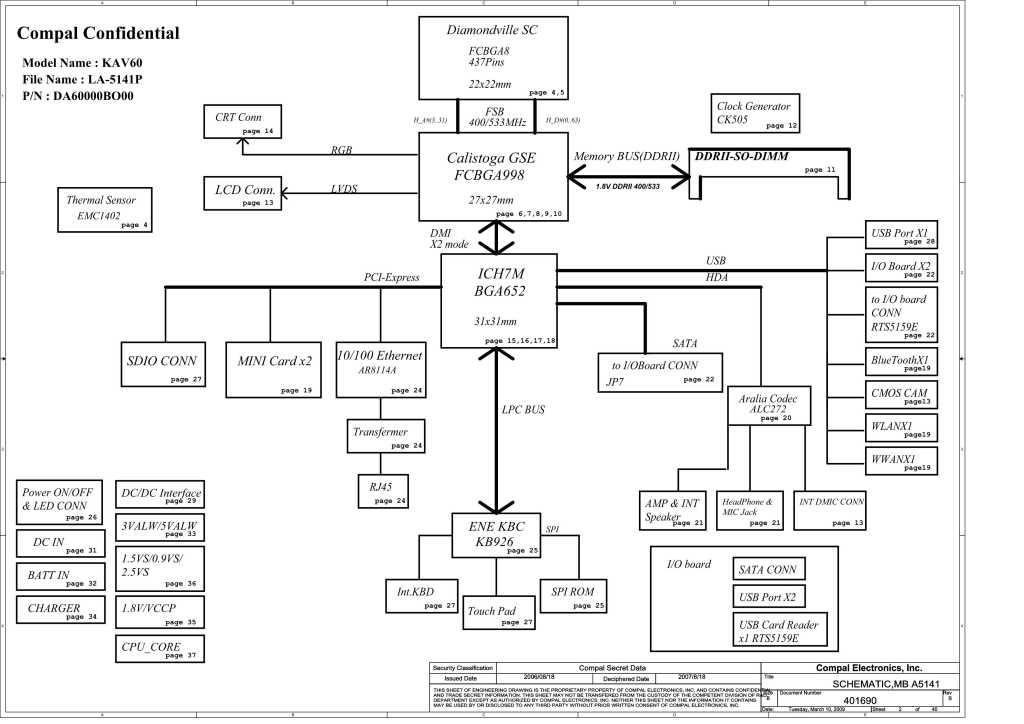 Acer Aspire One AOD250/AOP531h/AOP531f schematic