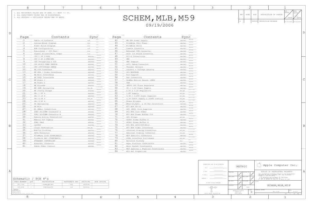 Apple MacBook Pro 15.4″ A1211 schematic – 820-2054