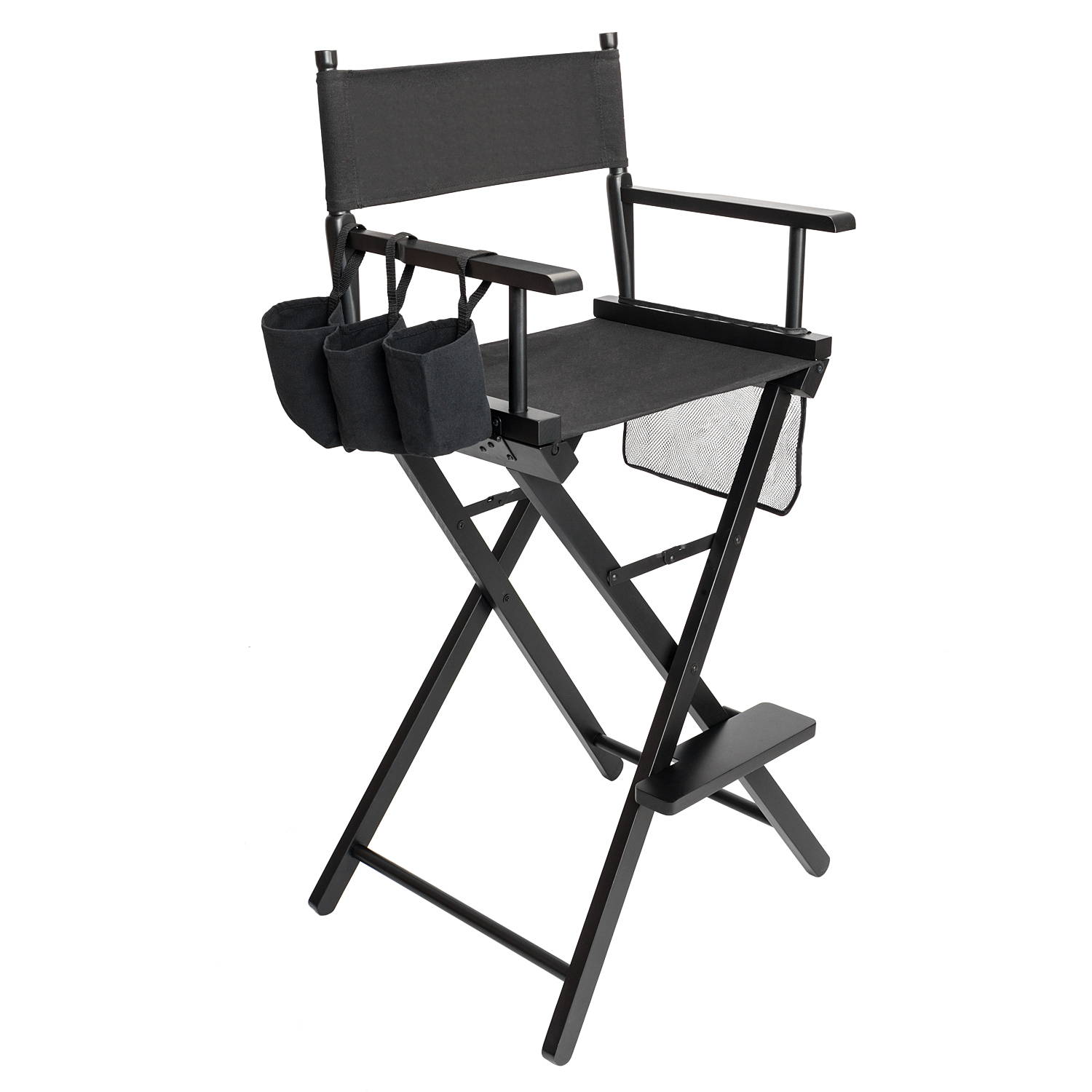 Black Directors Chair Details About Makeup Artist Director S Chair Aluminum Frame Light Weight And Folding Black