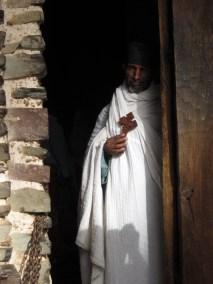 Monje en la Iglesia de Debre Berhan Selassie