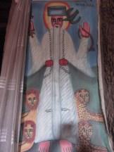 Pintura en el interior de una de las iglesias
