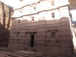 Iglesia Bet Amanuel, considerada como uno de los ejemplos más finos de las iglesias talladas en roca de Lalibela