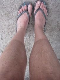 Cualquiera diría que iba vestida solo con calcetines jaja
