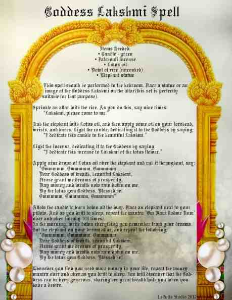 Goddess Lakshmi information page 2